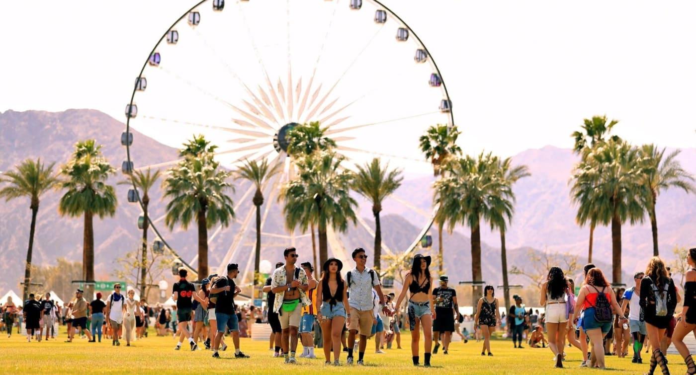Coachella festival in Indio, California