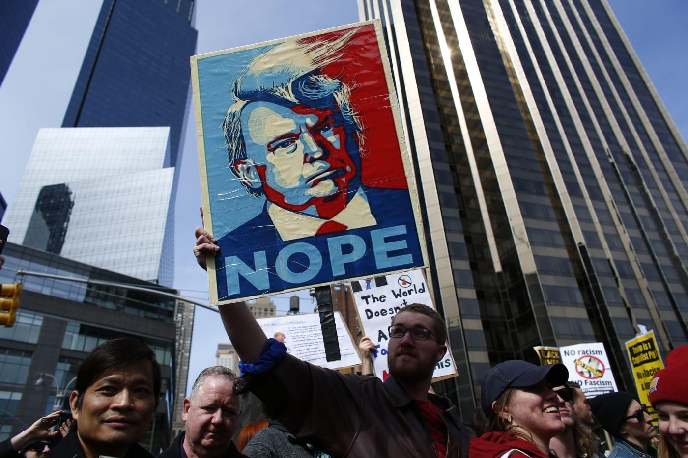 Trump Protest Sign 2