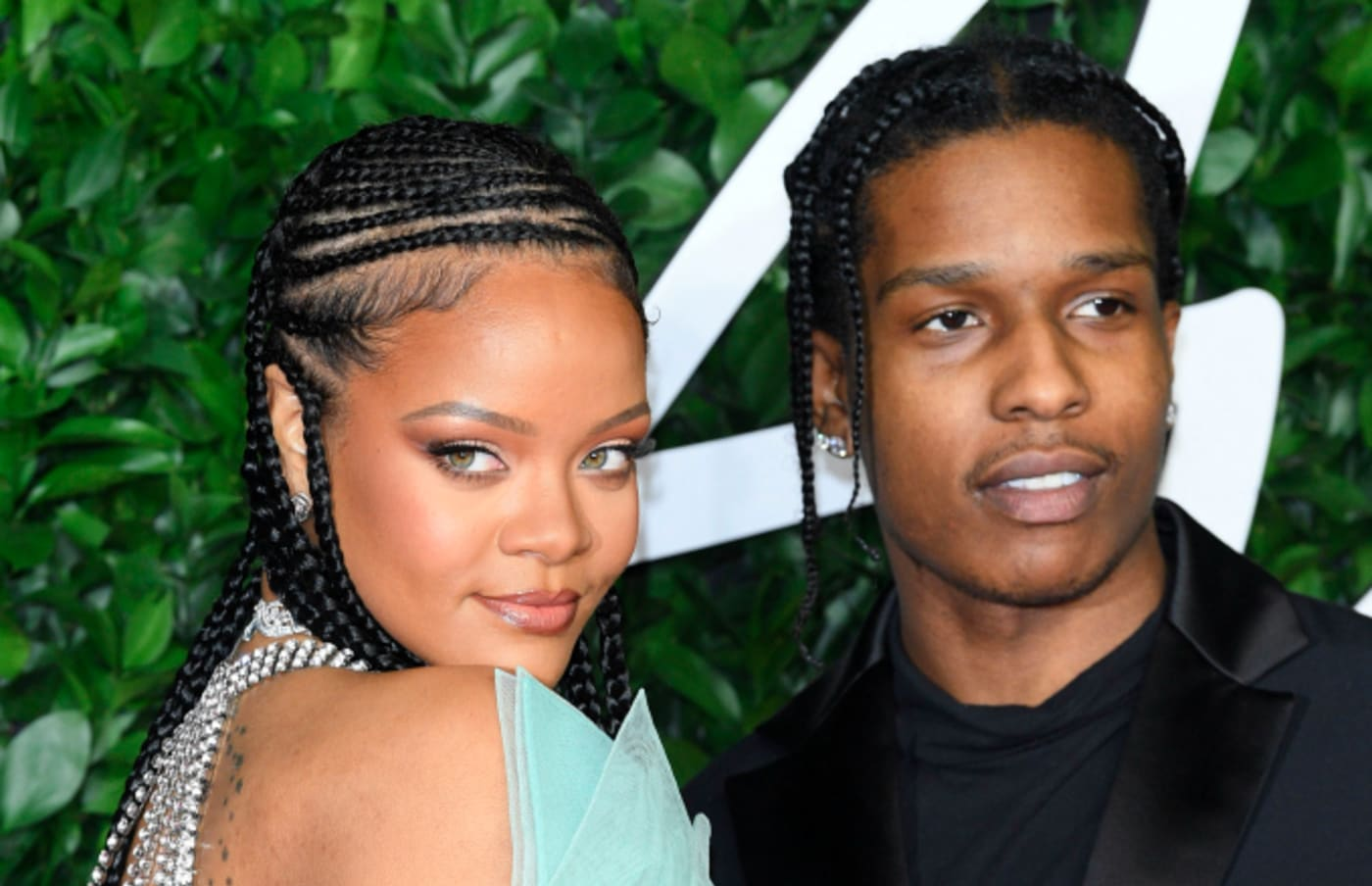 Rihanna and ASAP Rocky arrive at The Fashion Awards 2019
