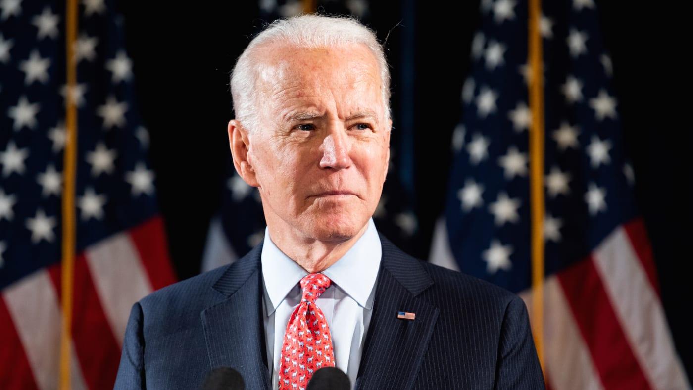 Former Vice President Joe Biden (D) speaks about the Coronavirus