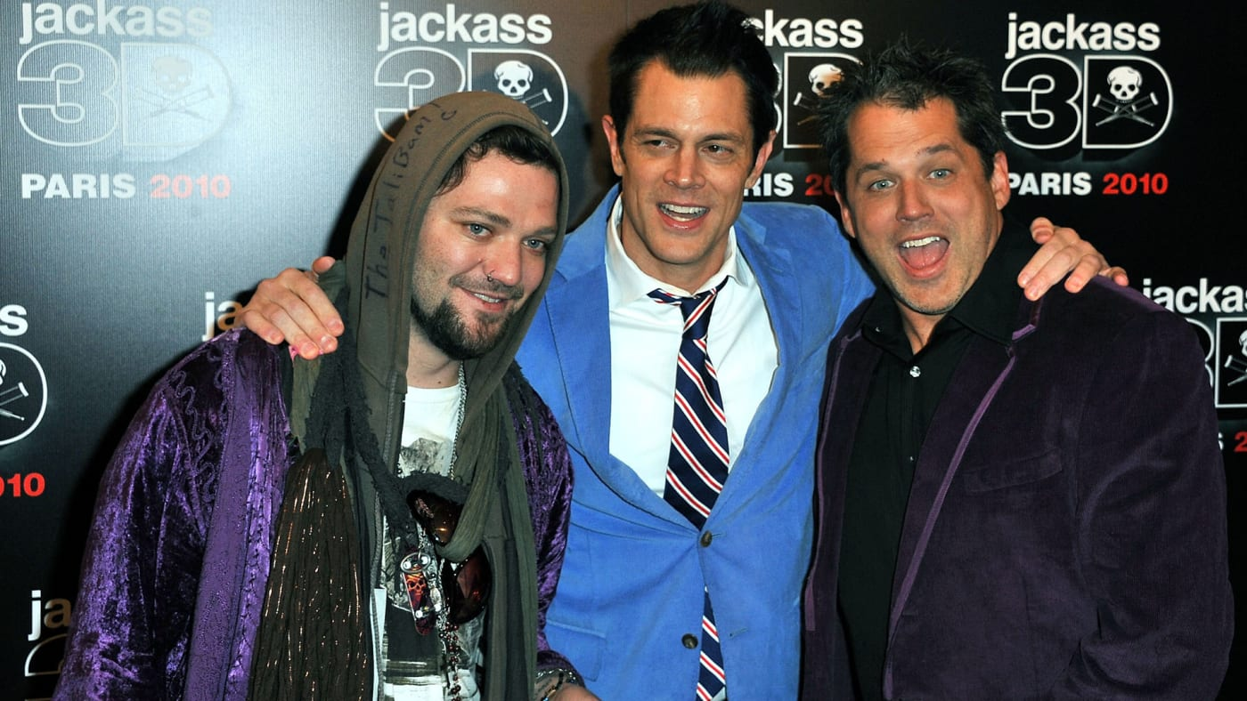 Bam Margera, Johnny Knoxville and Jeff Tremaine.