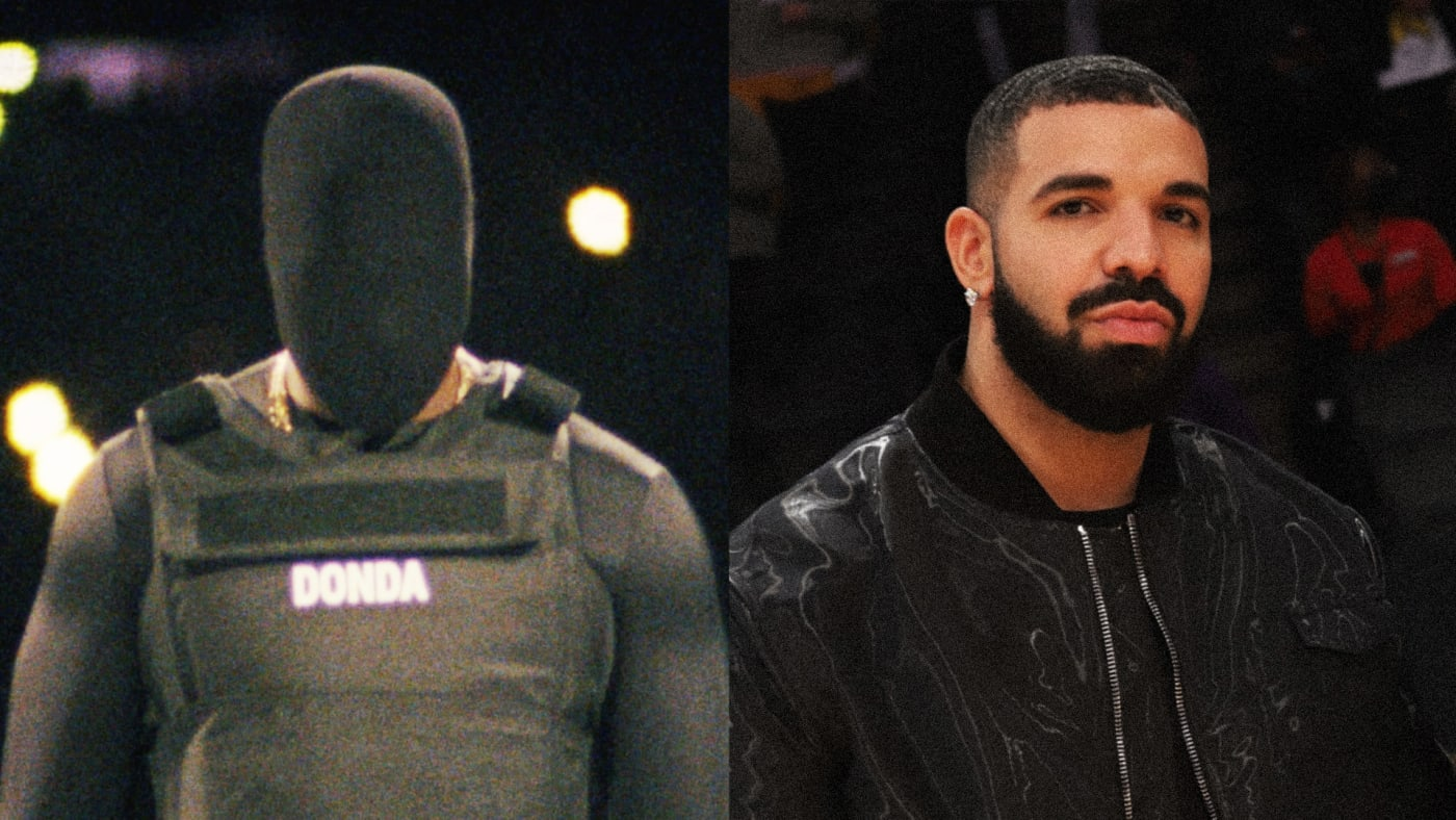 Kanye West and Drake beef 2021