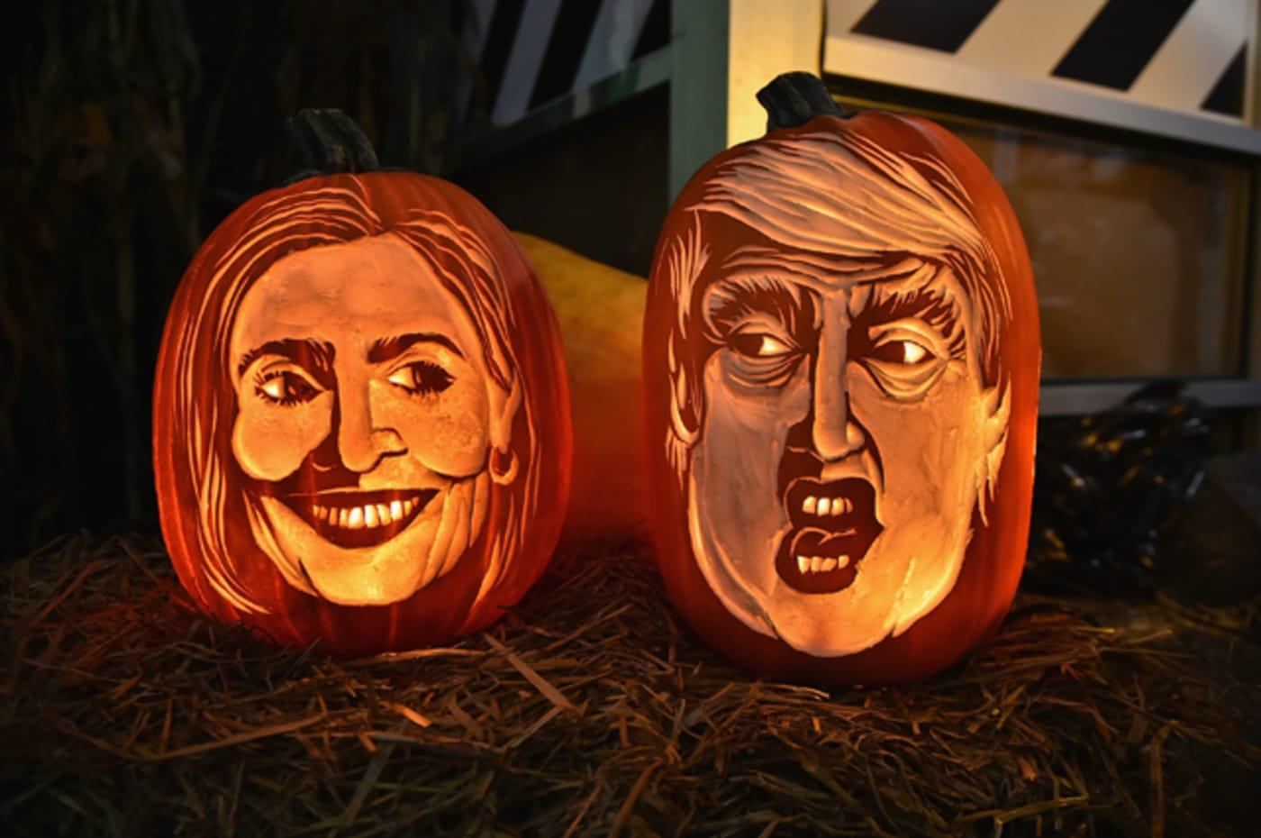 Hillary Clinton, Donald Trump pumpkins