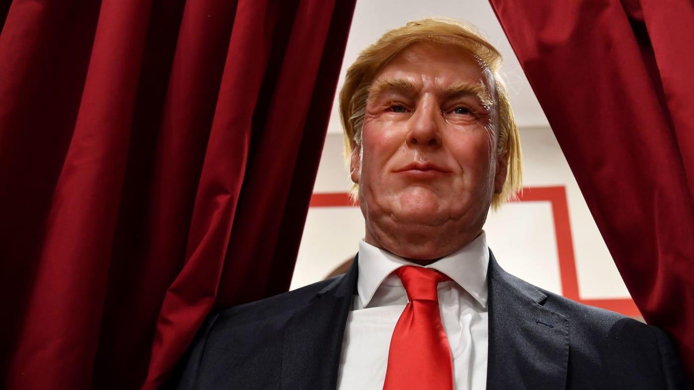 trump wax statue
