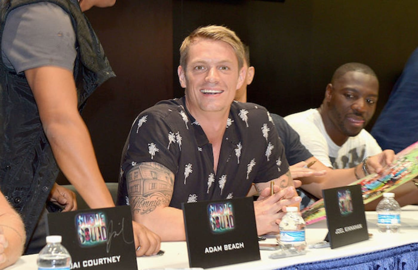 Joel Kinnaman at Comic Con for 'Suicide Squad' in 2016.
