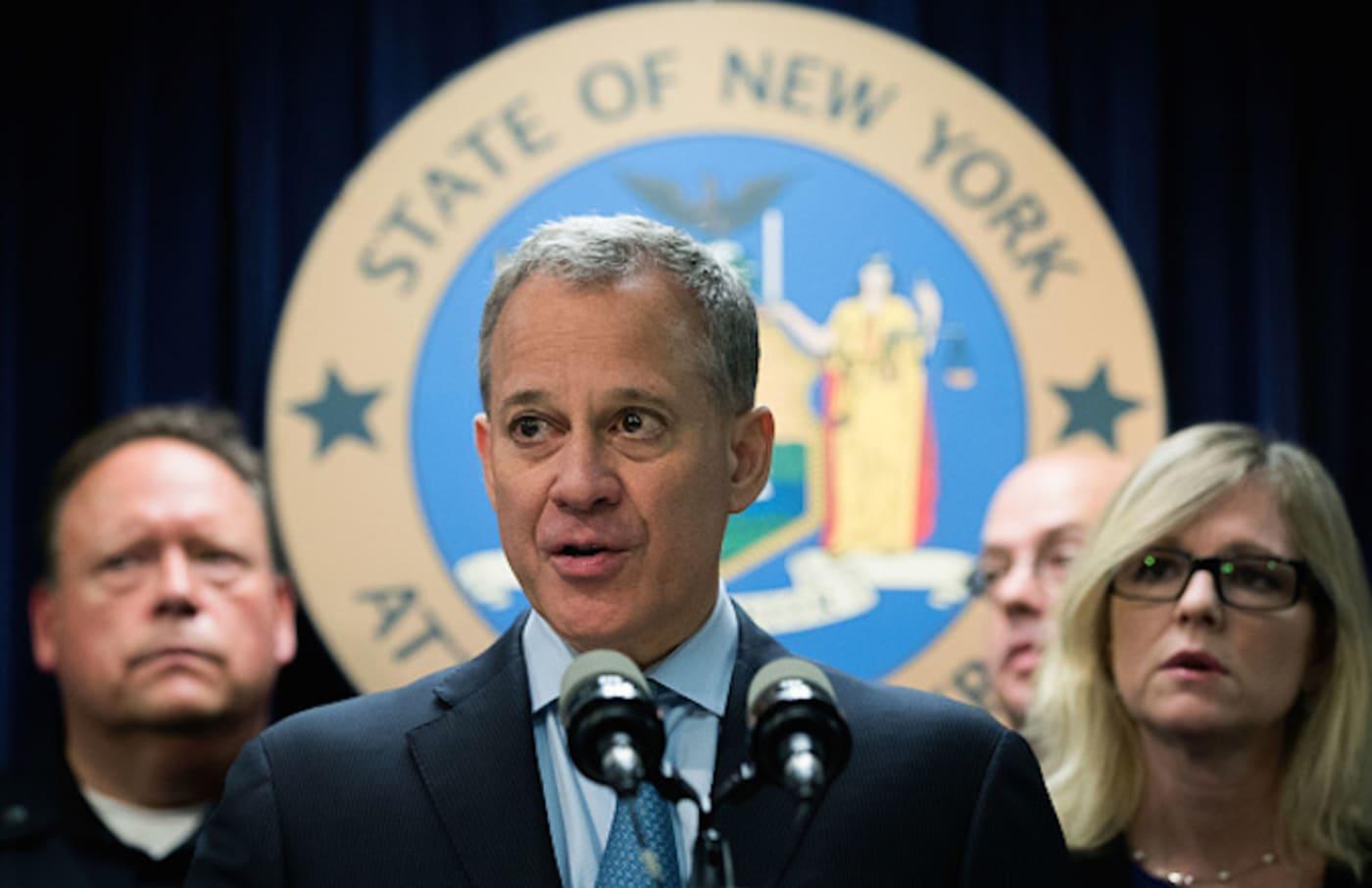 New York Attorney General Eric Schneiderman speaks