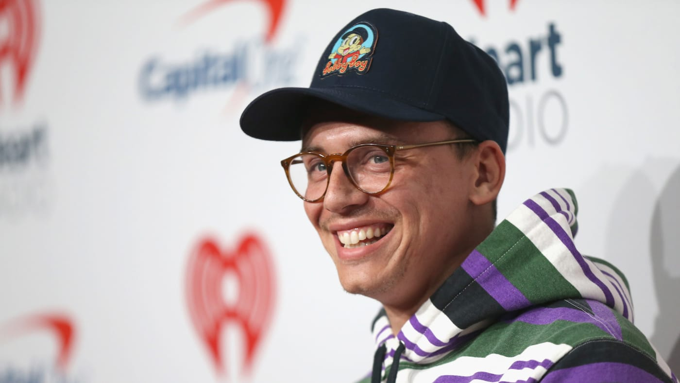 Logic attends the 2018 iHeartRadio Music Festival.