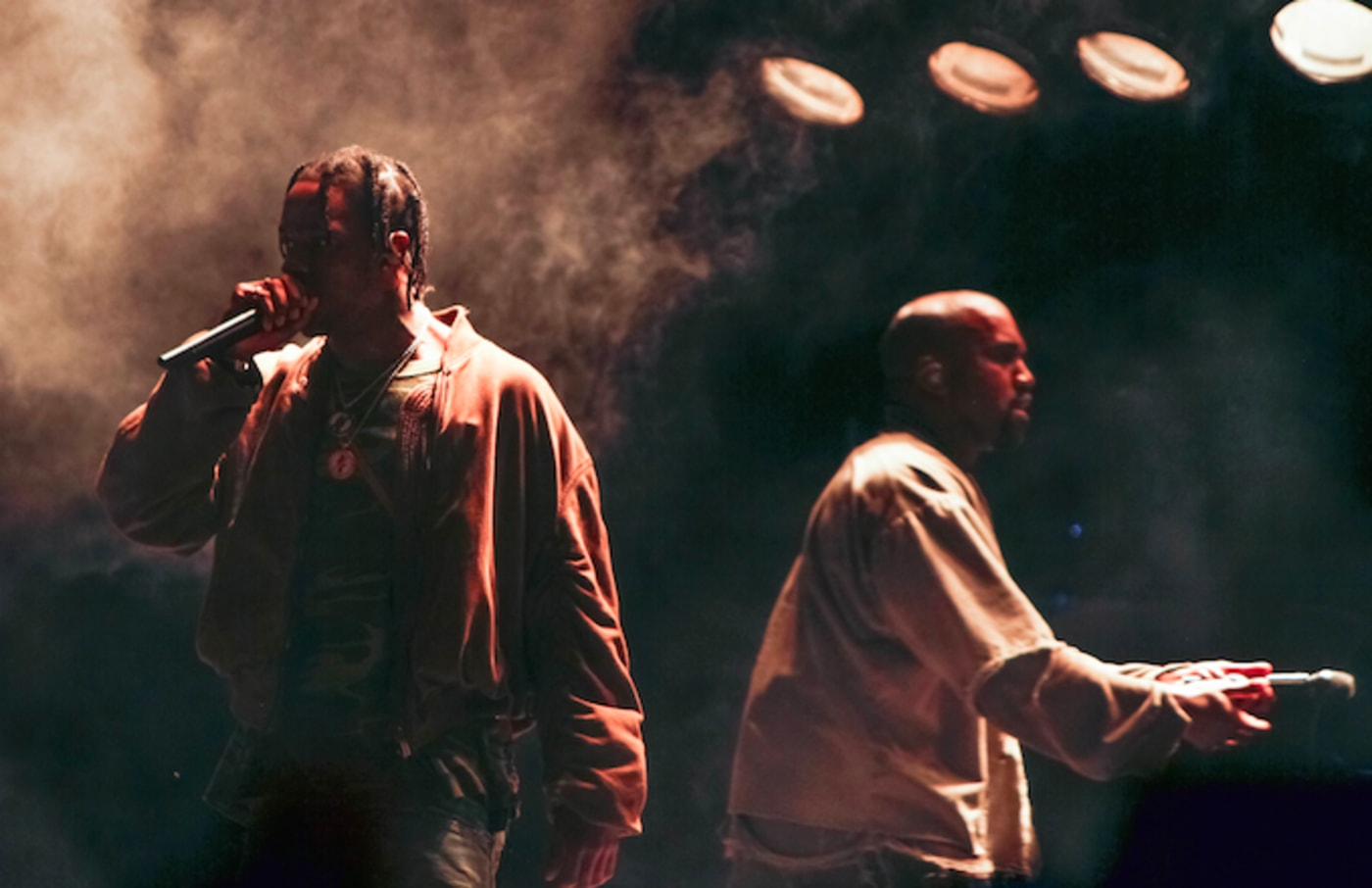Kanye and Travis Scott