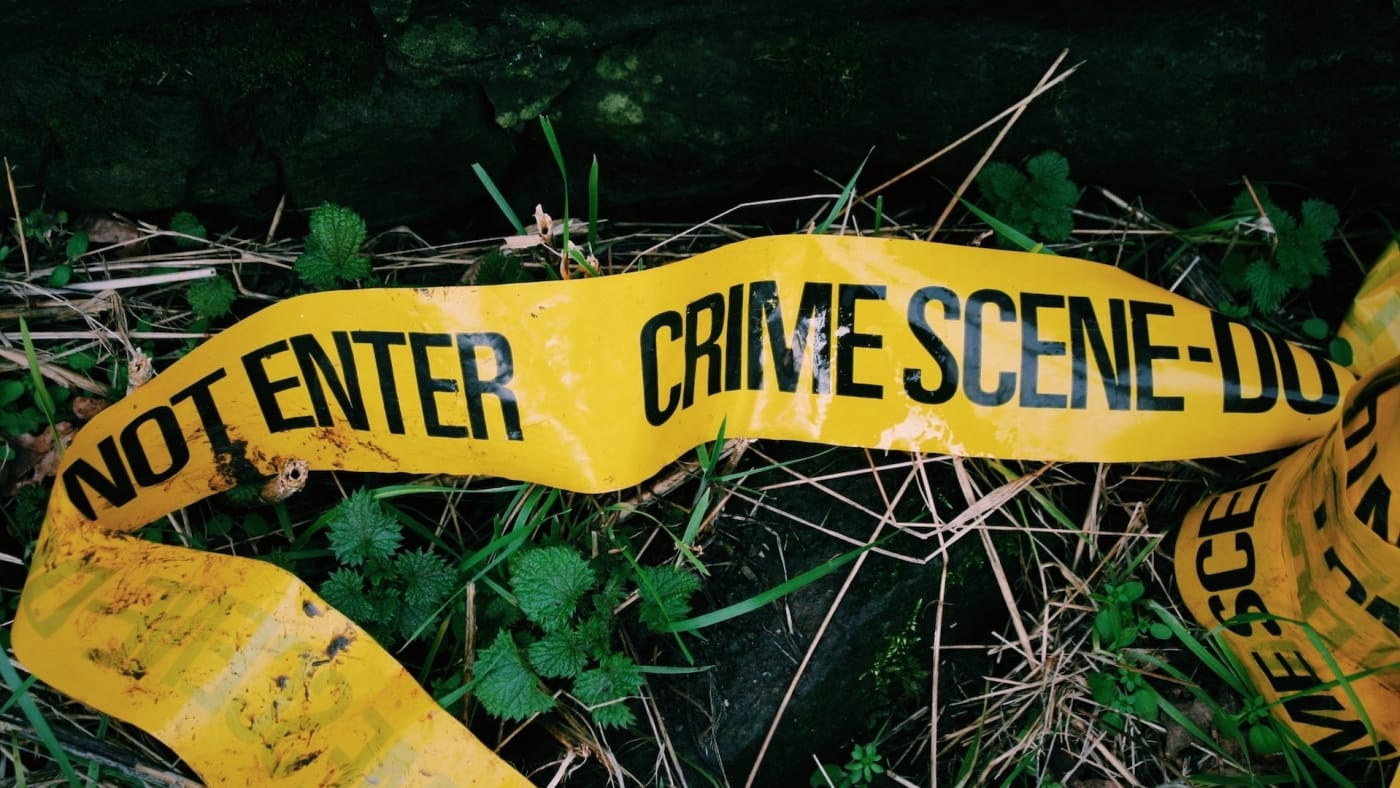 crime scene tape nazi flag