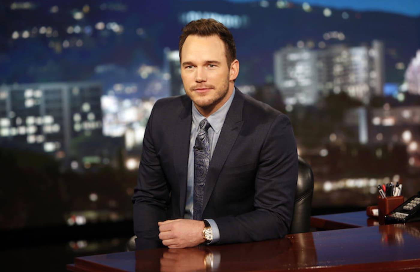 Chris Pratty guest hosting for 'Kimmel.'
