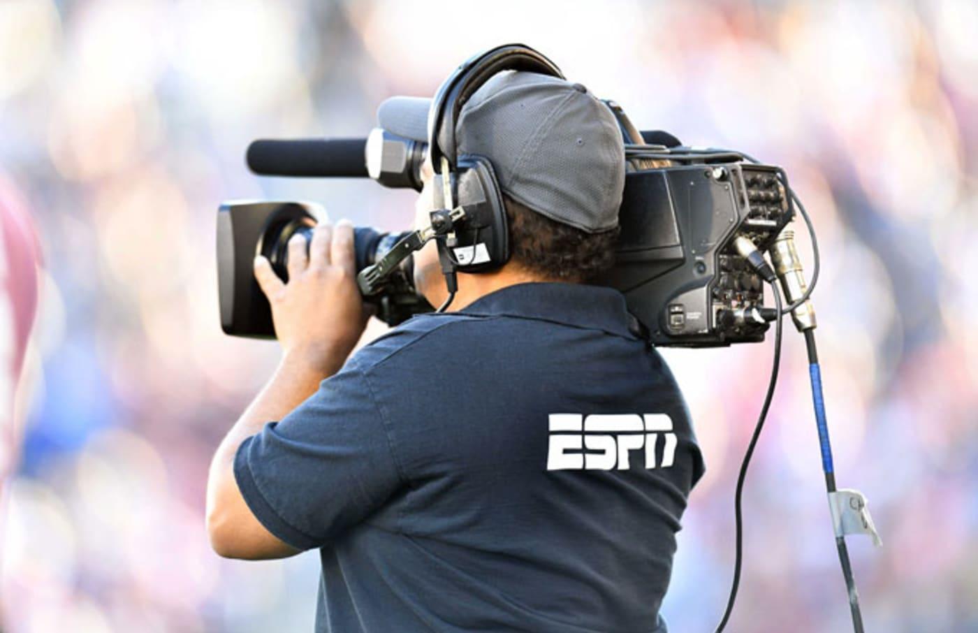 An ESPN camera guy