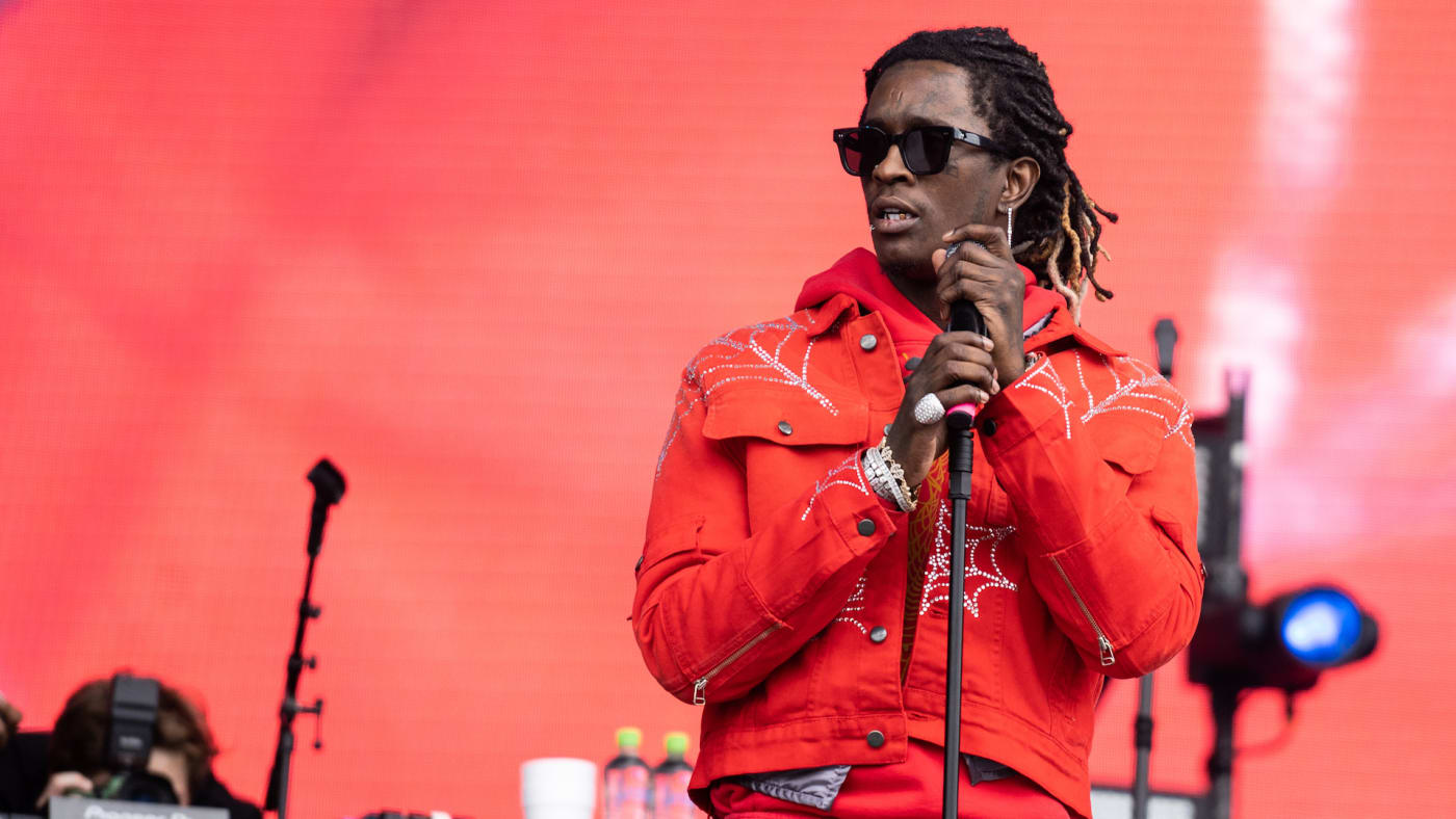 Young Thug performs on stage during Wireless Festival 2019.