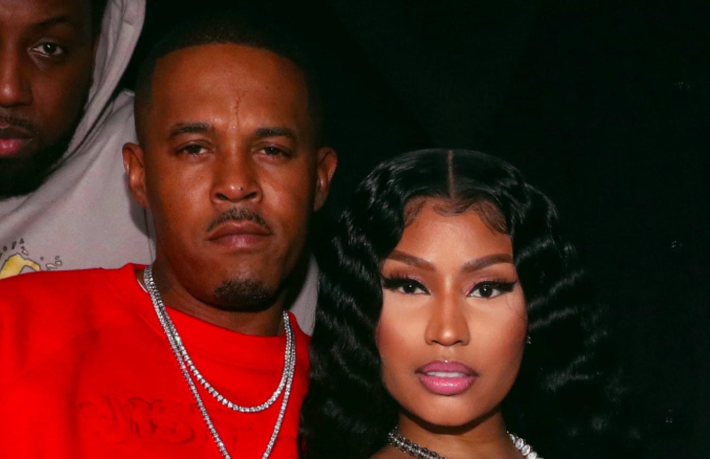 Kenneth Zoo Petty (L) and Nicki Minaj.