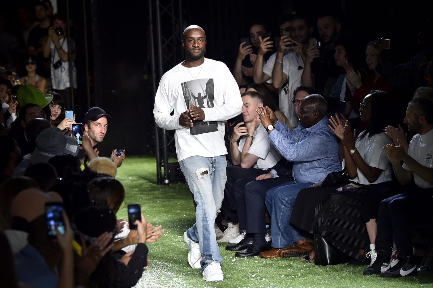 Virgil Abloh at Off White Spring 2019 runway show
