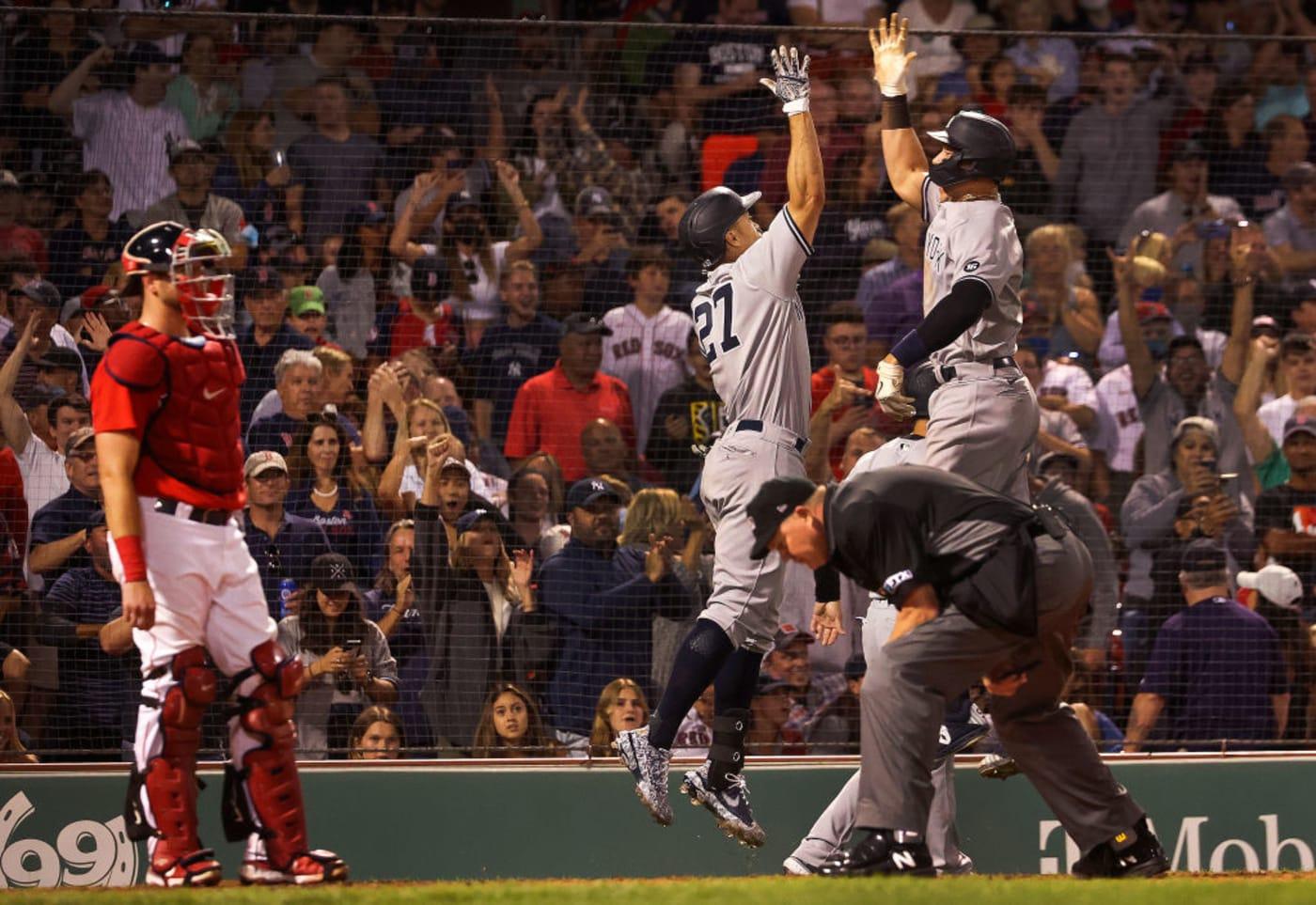 Giancarlo Stanton Aaron Judge Yankees Red Sox 2021