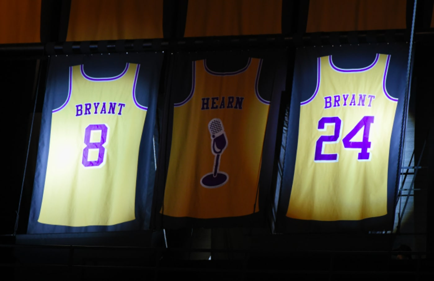Kobe Bryant's jersey retirement ceremony