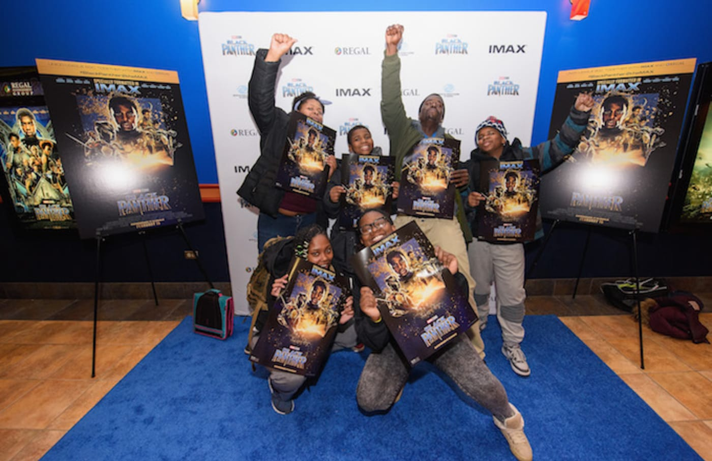 Union League Boys & Girls Club members at 'Black Panther' screening