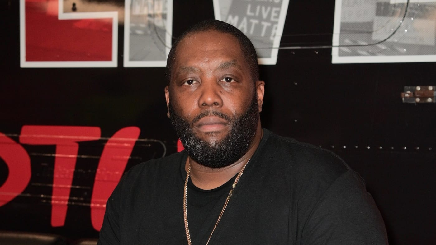 Killer Mike backstage at Hot 107.9 Birthday Bash 25 at Center Parc Credit Union Stadium