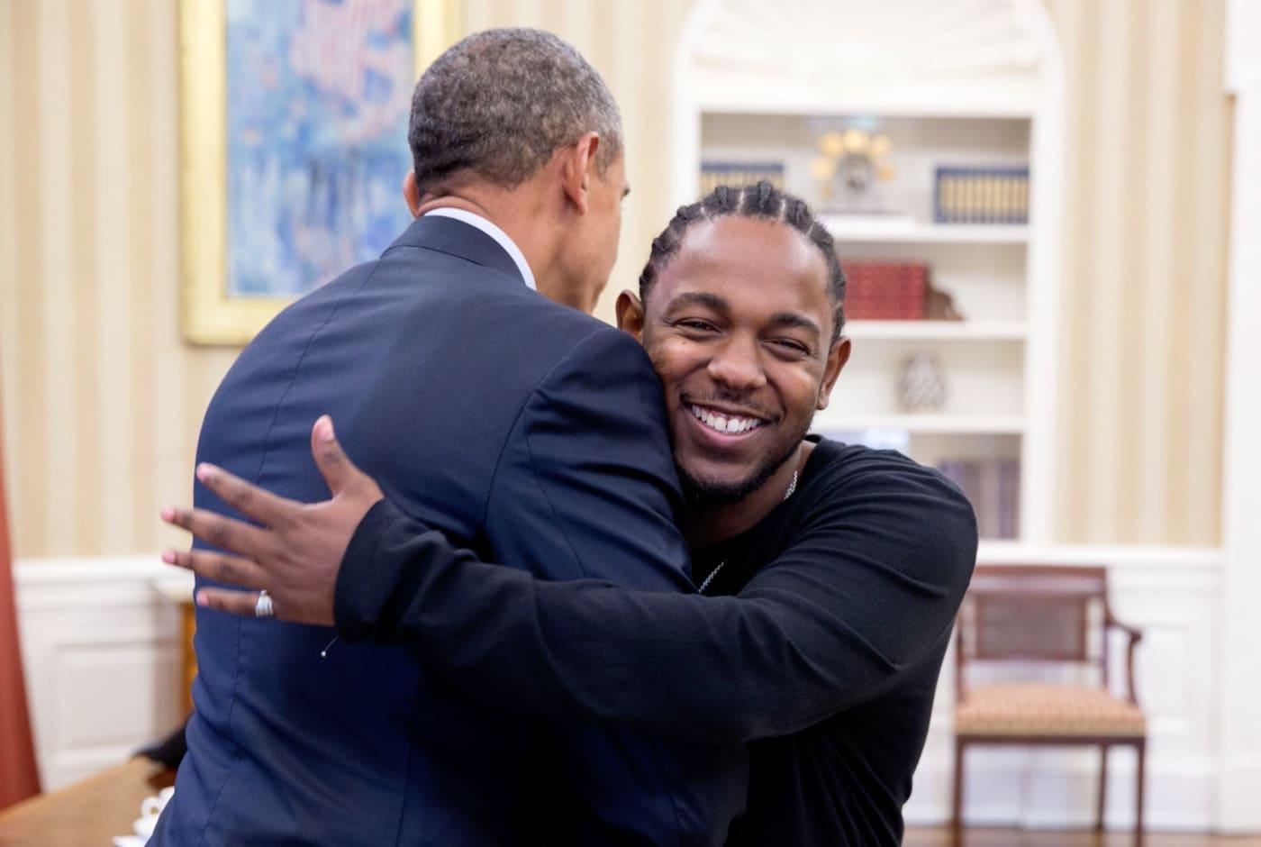 Kendrick Lamar meets Barack Obama