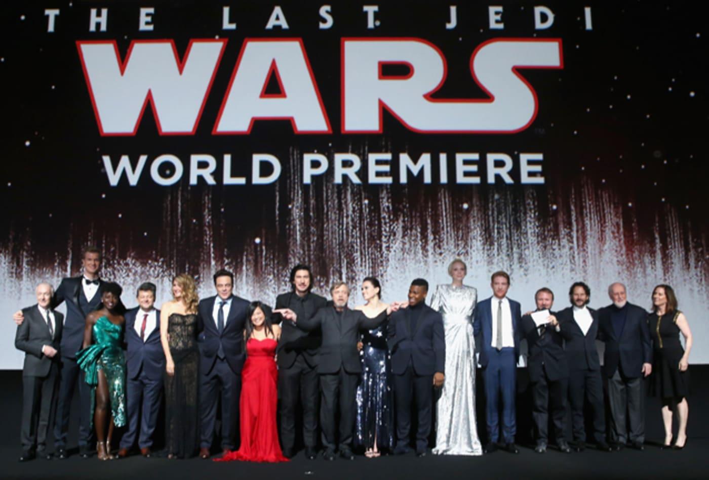 The 'Star Wars: The Last Jedi' cast at the World Premiere