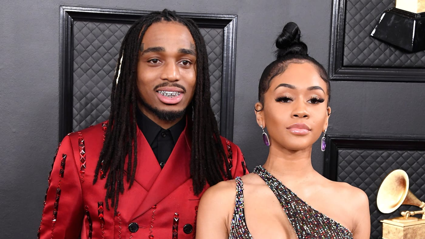 Quavo and Saweetie attend the 62nd Annual GRAMMY Awards at Staples Center