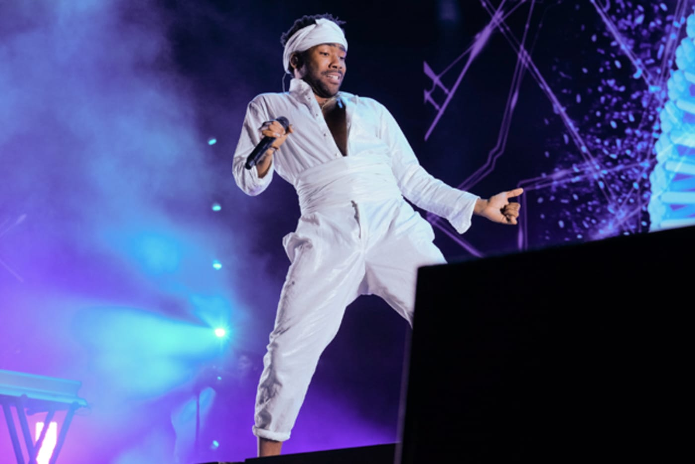 Childish Gambino performs live on stage during the 2017 Governors Ball Music Festival