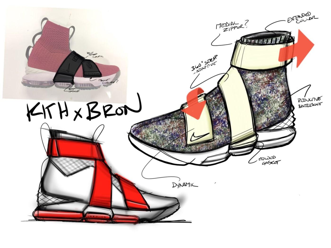 Kith x LeBron sketch