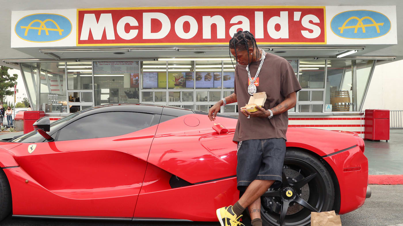 Travis Scott surprises crew and customers at McDonald's