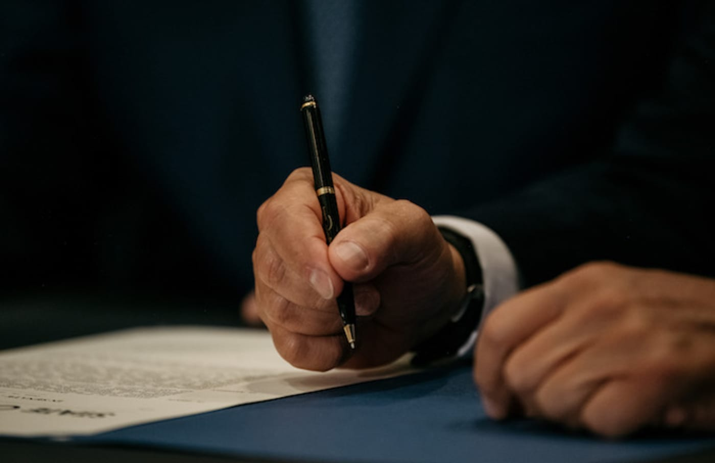 New York Governor Andrew Cuomo signs the Climate Leadership and Community Protection Act.