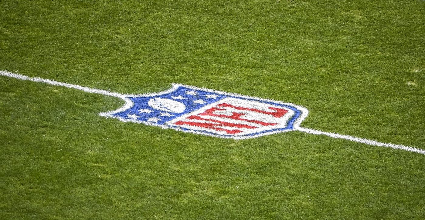 NFL logo at 50 yard line
