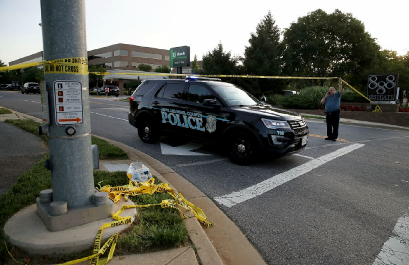 Anne Arundel County police continue keep the road closed