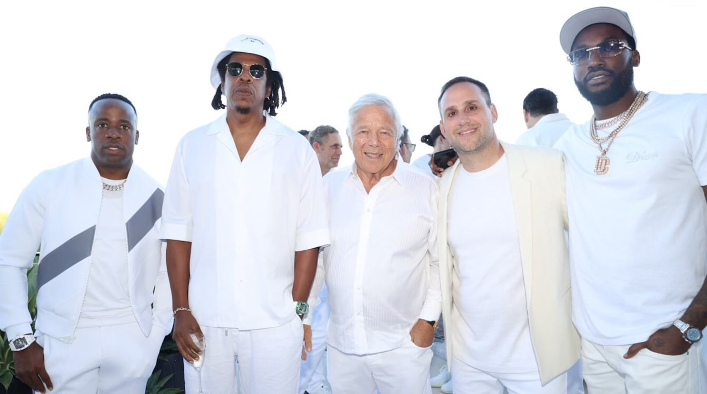 Jay Z, Meek Mill, Yo Gotti, Robert Kraft, and Michael Rubin