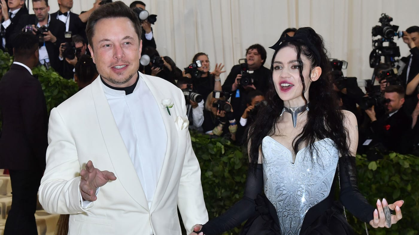 Elon Musk and Grimes at the 2018 Met Gala