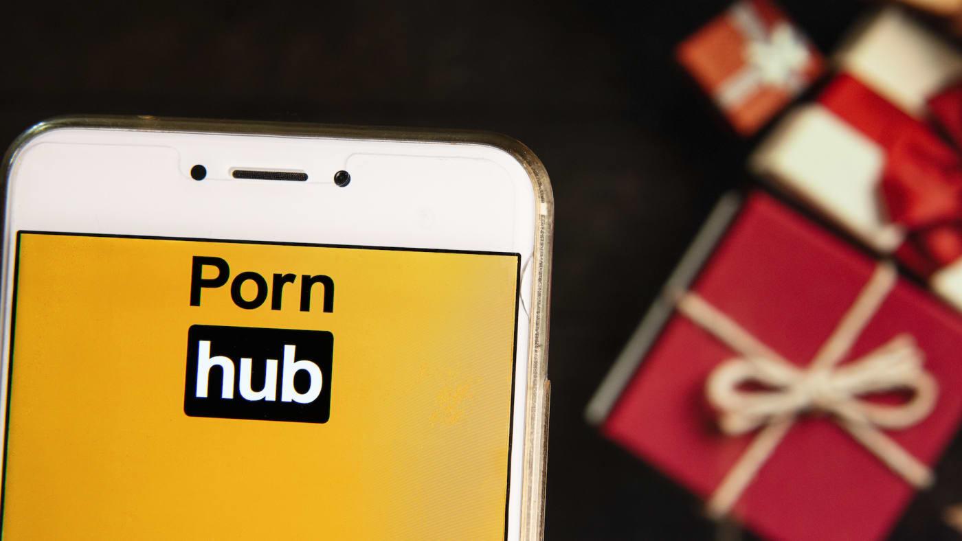 The Pornographic video sharing website Pornhub logo