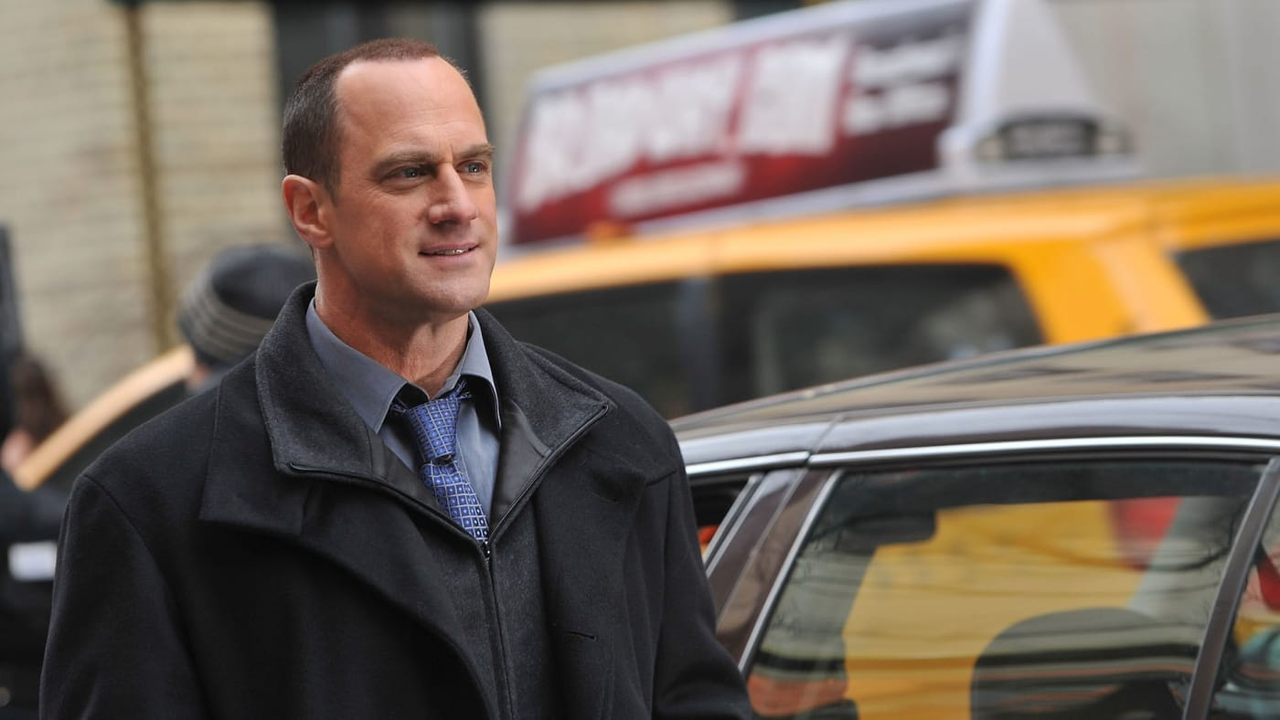 "Christopher Meloni on location for ""Law & Order: SVU"" on the streets of Manhattan."
