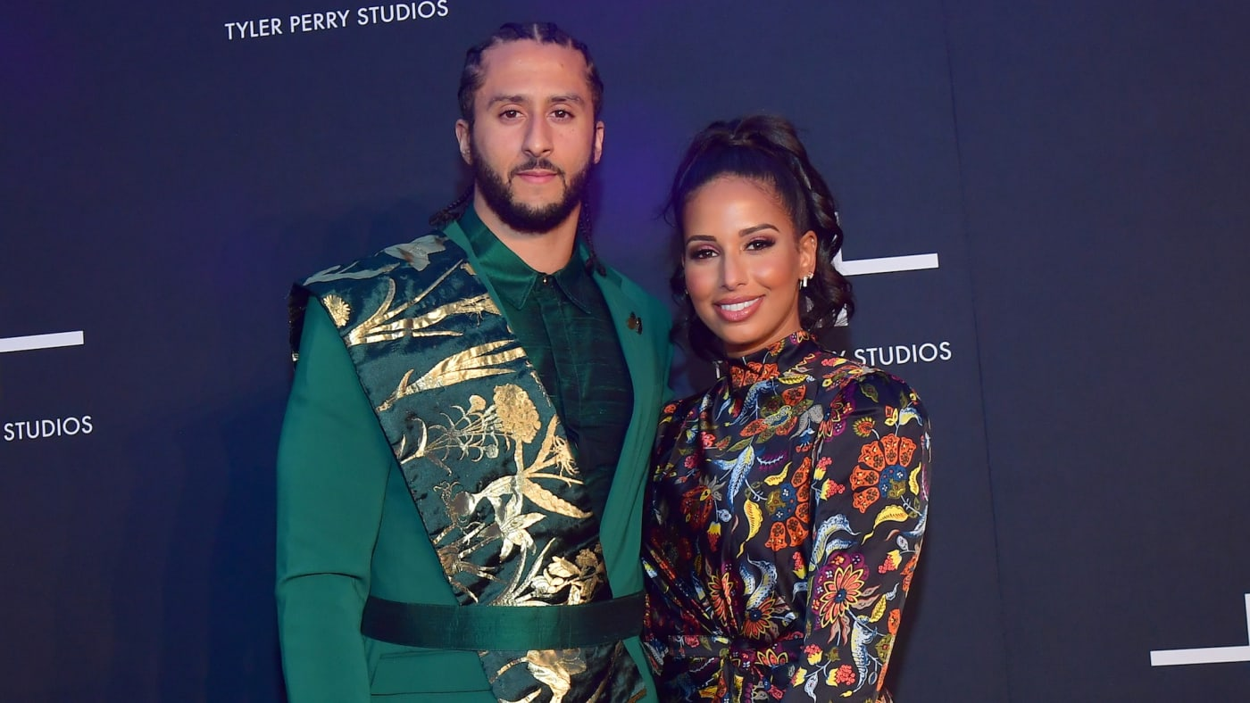 Colin Keapernick and Nessa Diab attend Tyler Perry Studios Grand Opening Gala