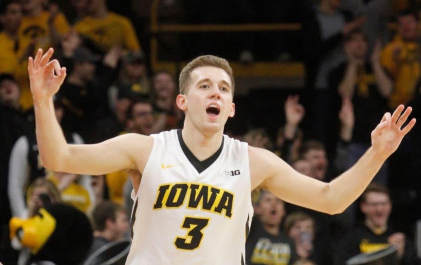 Jordan Bohannon of Iowa