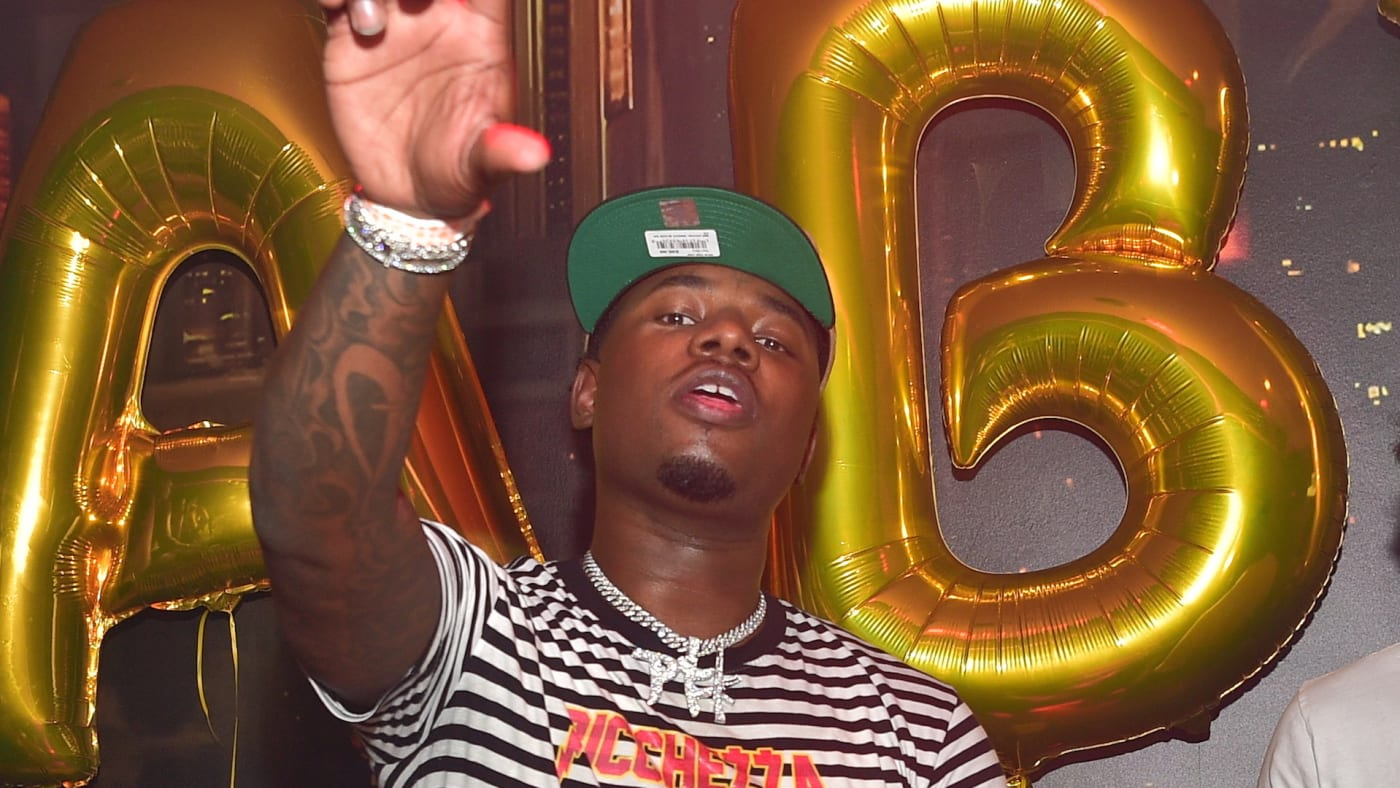 """Rapper Lil Marlo attends Lil Baby """"Harder Than Ever"""" Mixtape Release Event"""