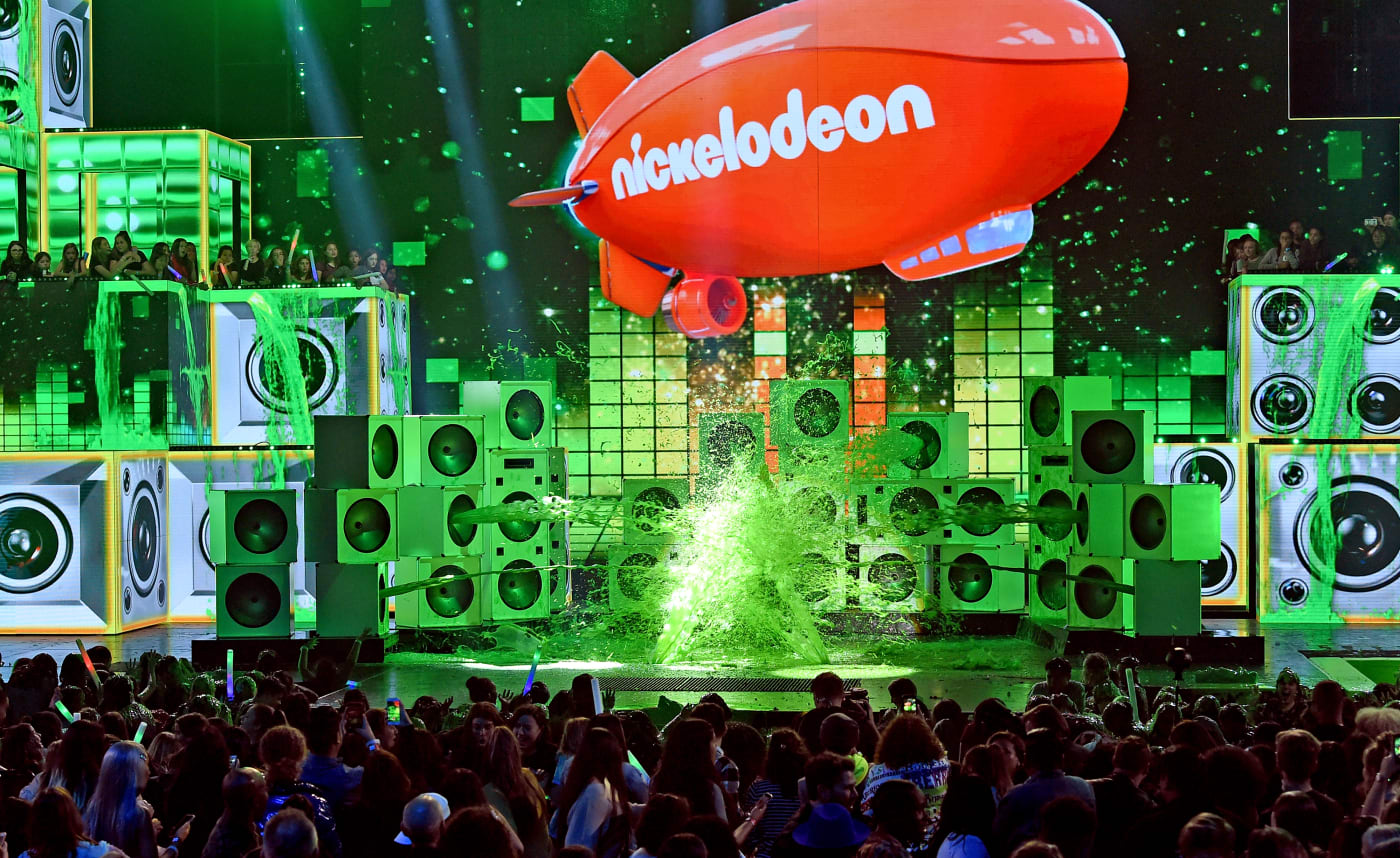 The stage at a Nickelodeon awards show
