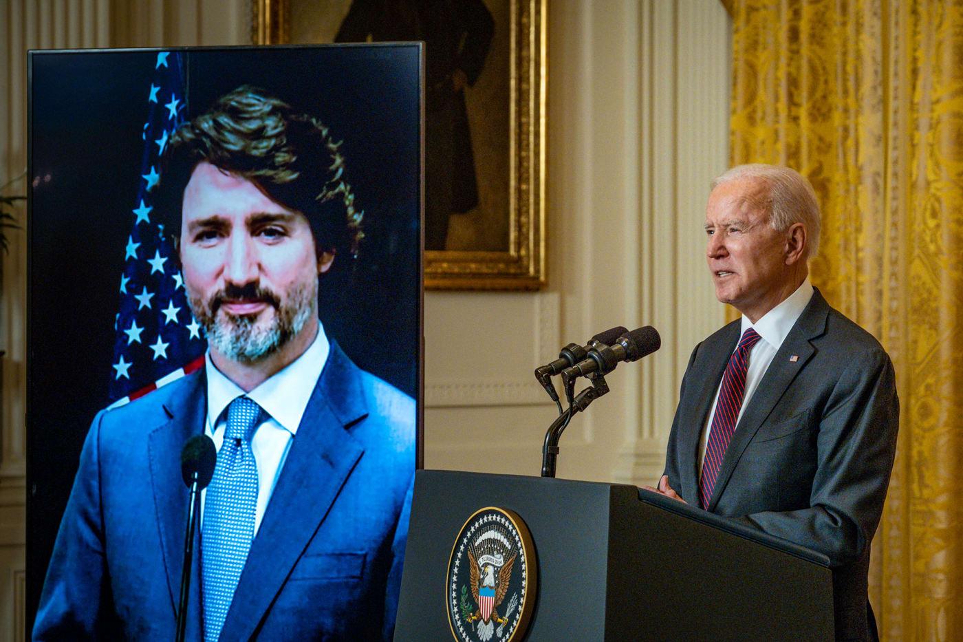 President Joe Biden and Prime Minister Justin Trudeau meet virtually