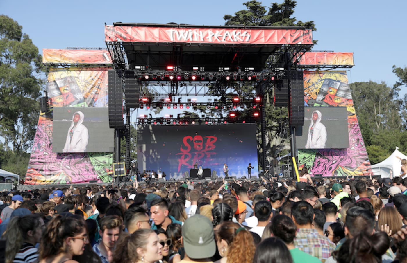 SOB x RBE performs on the Twin Peaks Stage.