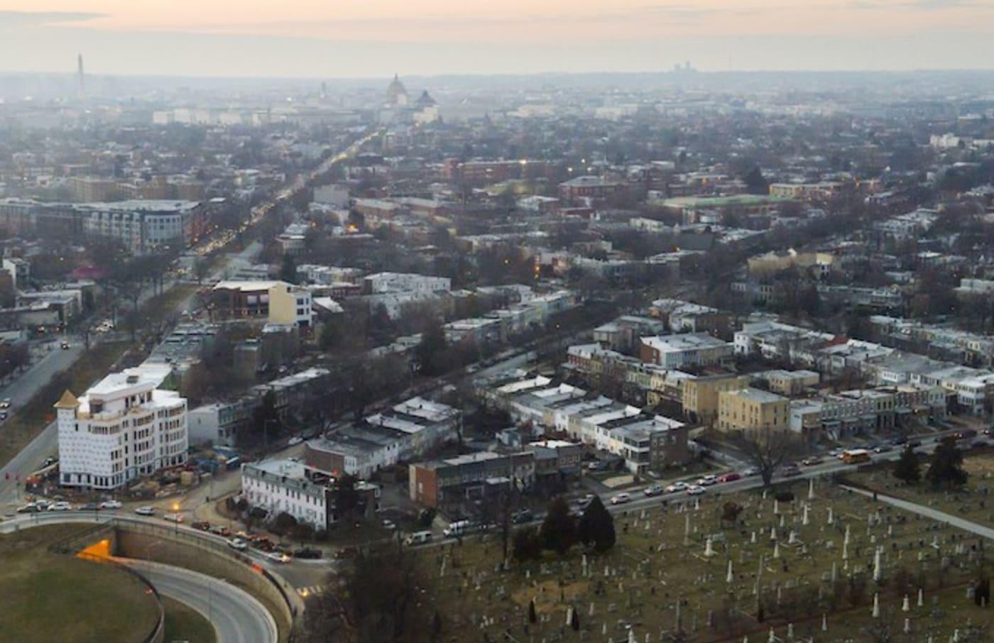 aerial photograph Washington DC