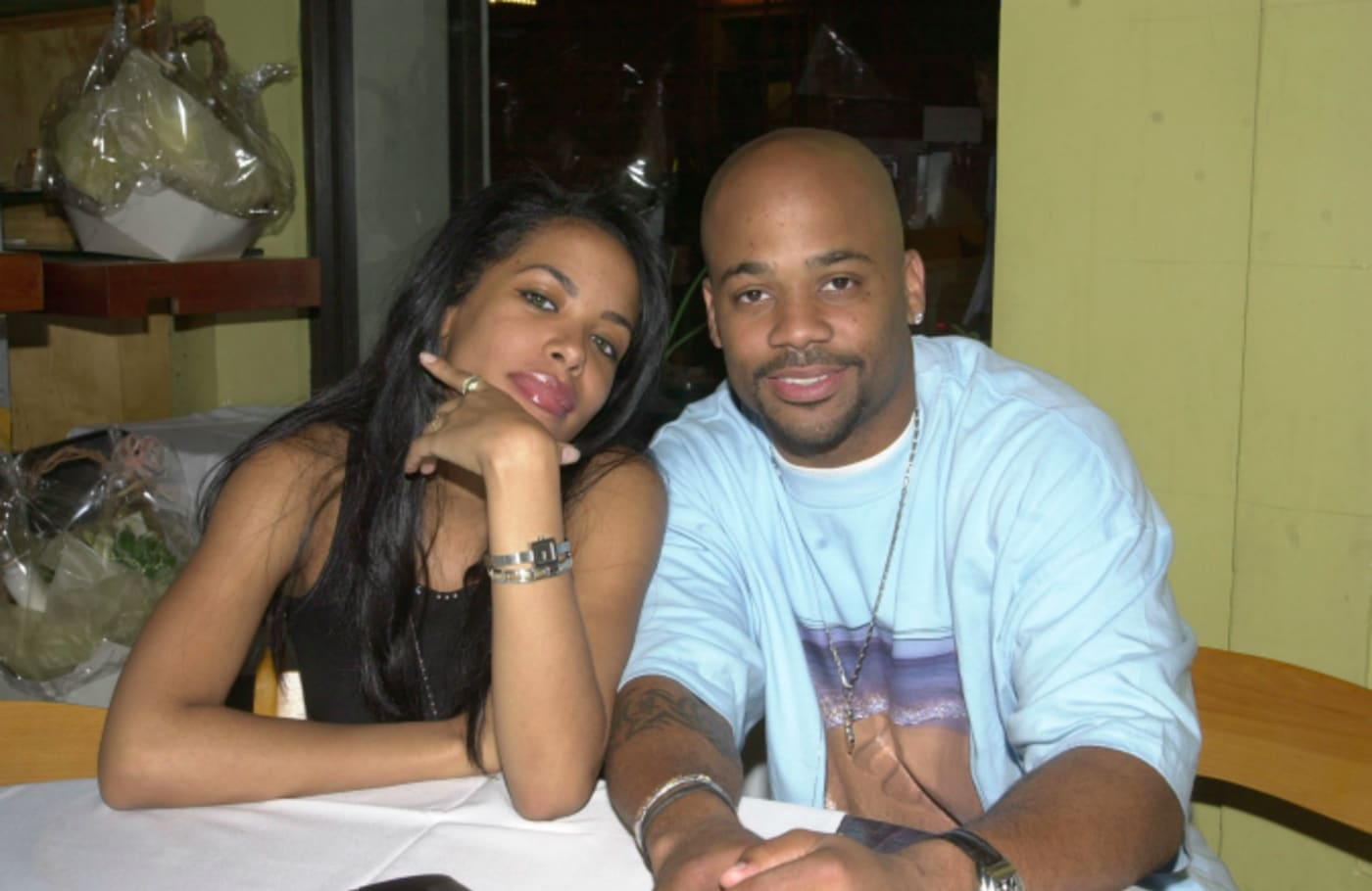 Aaliyah & Boyfriend Damon Dash (CEO of Roc A Fella Records)