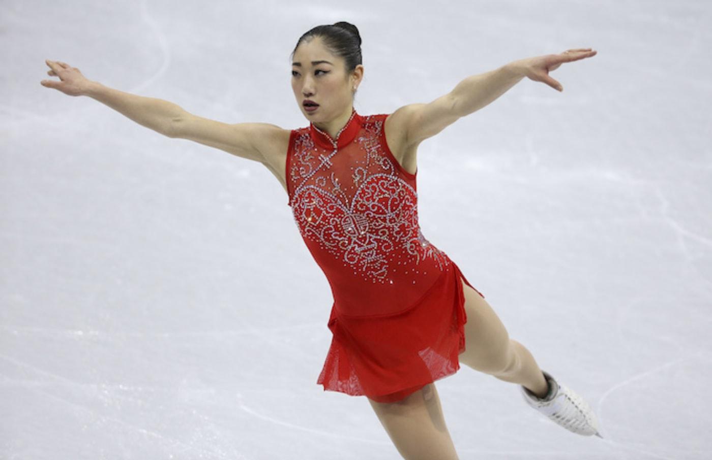 Mirai Nagas competing in Ladies Free Skating.