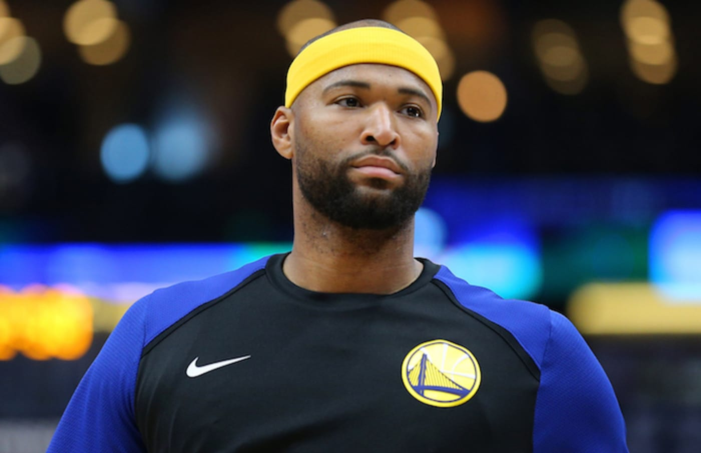 DeMarcus Cousins reacts during a game against the New Orleans Pelicans.