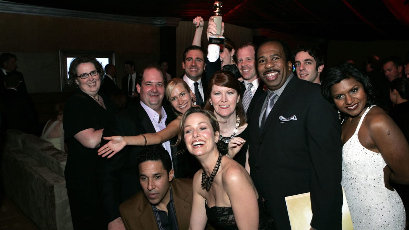 The cast of 'The Office' at a 2006 Golden Globes after party.