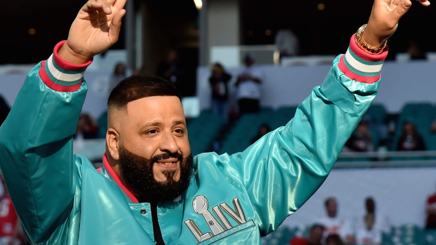 DJ Khaled attends Super Bowl LIV at Hard Rock Stadium