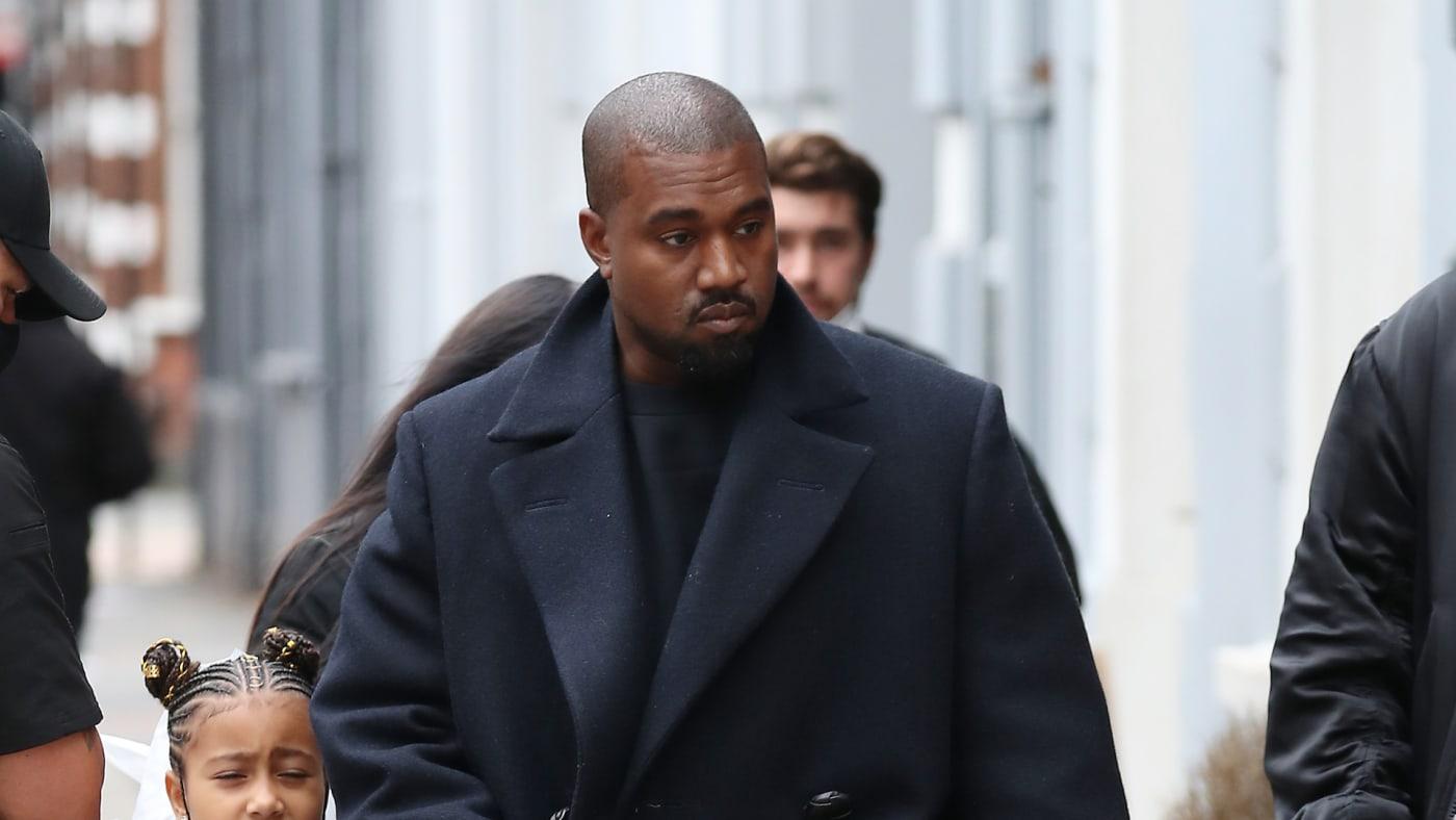 Kanye West seen leaving Michiko Sushino restaurant