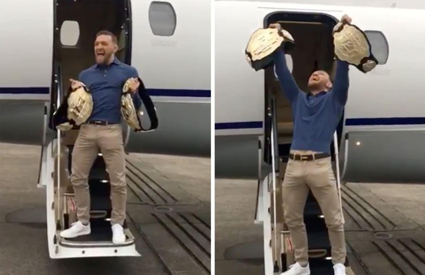 Conor McGregor still has two belts