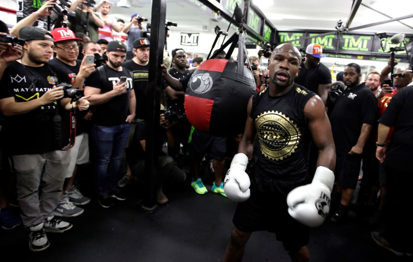 Floyd Mayweather Workout August 2017